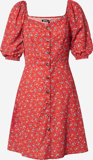 Boohoo Poletna obleka 'Floral Square Neck Mini Dress' | rdeča barva, Prikaz izdelka