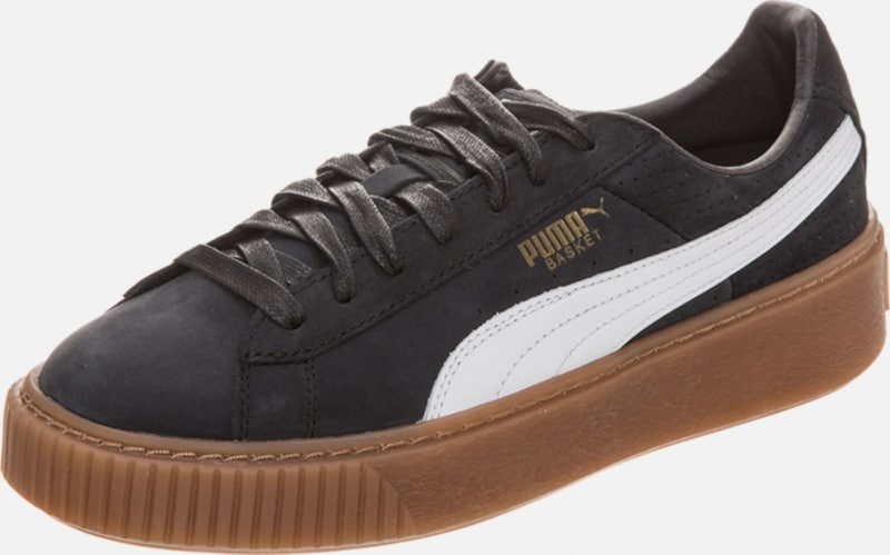 PUMA Basket Platform Perforated Perforated Platform Sneaker Damen 80a411