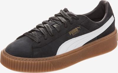 PUMA Sneaker 'Basket Platform Perforated' in schwarz / weiß, Produktansicht