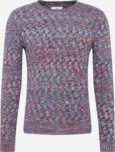 TOM TAILOR Svetr - modrá / šedá / fialová / červená, Produkt