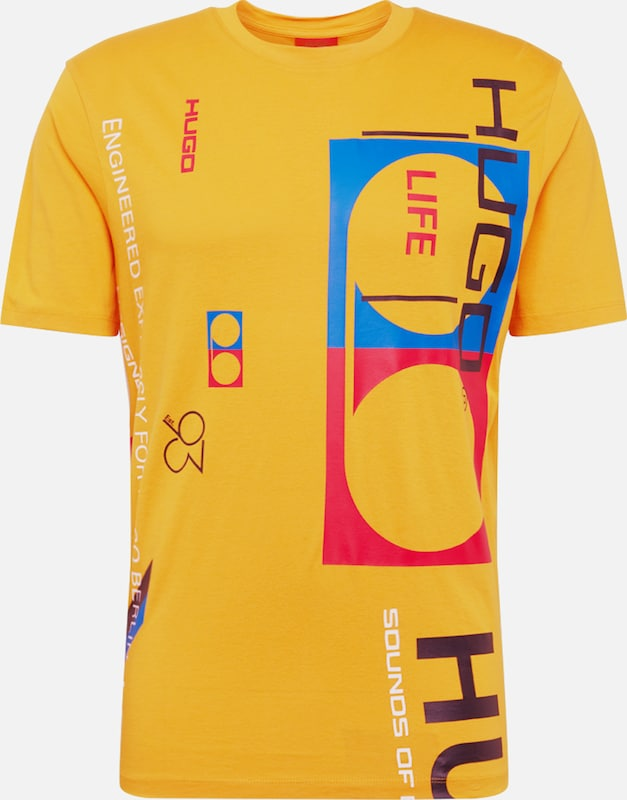 HUGO Shirt 'Dunday' in orange, Produktansicht