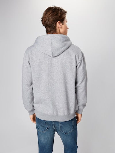 JACK & JONES Sweatshirt 'SOFT' in de kleur Grijs gemêleerd: Achteraanzicht