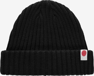 JACK & JONES Bonnet en rouge carmin / noir / blanc naturel, Vue avec produit