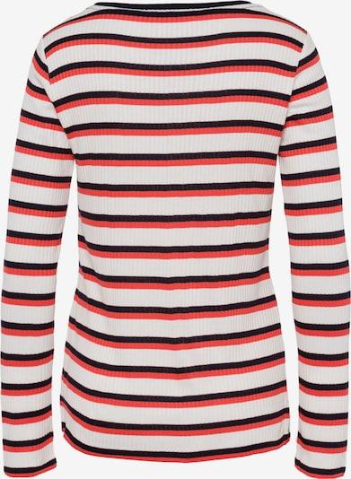 BRAX Shirt 'Carina' in rot / schwarz / weiß: Frontalansicht