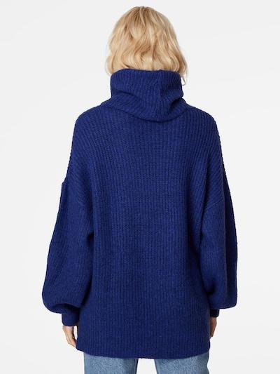LeGer by Lena Gercke Oversized trui 'Juna' in de kleur Donkerblauw: Achteraanzicht