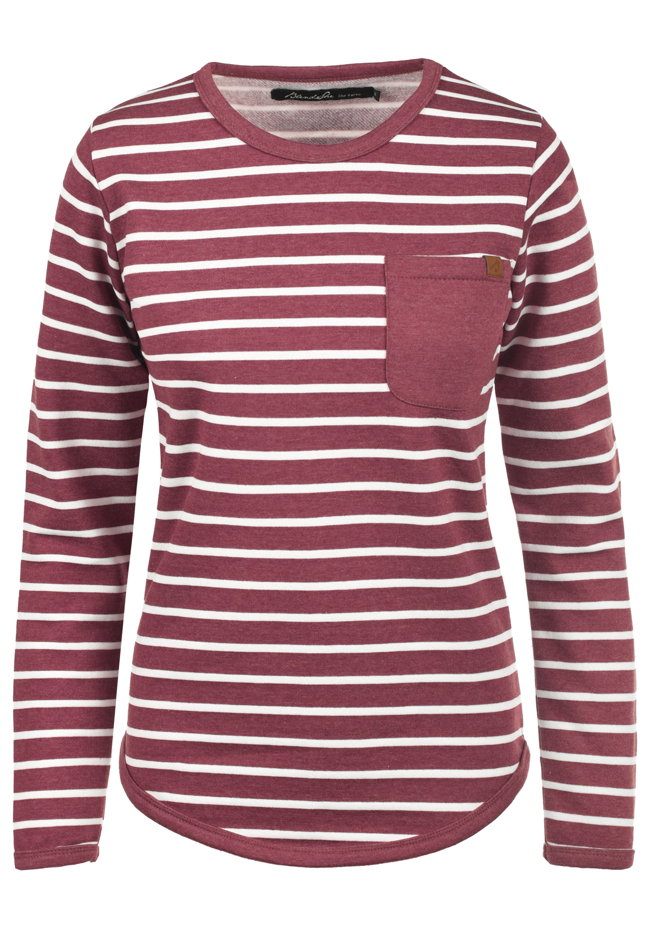 She She Blend Blend Sweatshirt In RotWeiß eH2IYE9WD