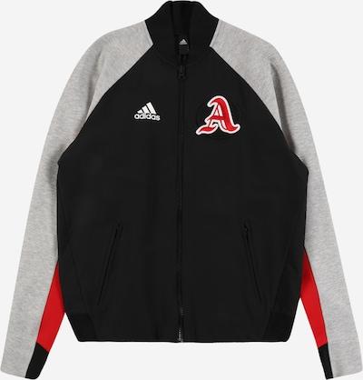 ADIDAS PERFORMANCE Jacke in hellgrau / rot / schwarz, Produktansicht