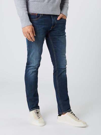 Tommy Jeans Jean 'Slim Scanton DYTDST' en bleu foncé, Vue avec modèle