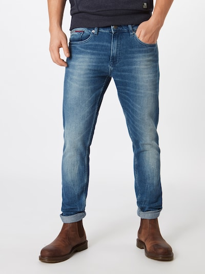 Tommy Jeans Jeans 'Slim Tapered Steve BEMB' in blue denim, Modelansicht