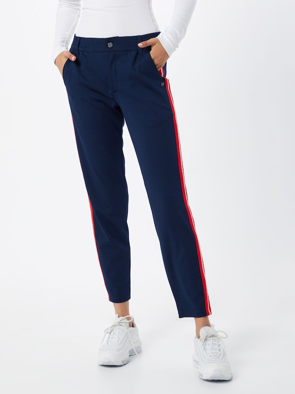 TOM TAILOR DENIM Hose 'Athletic knitted track pants' in navy, Modelansicht