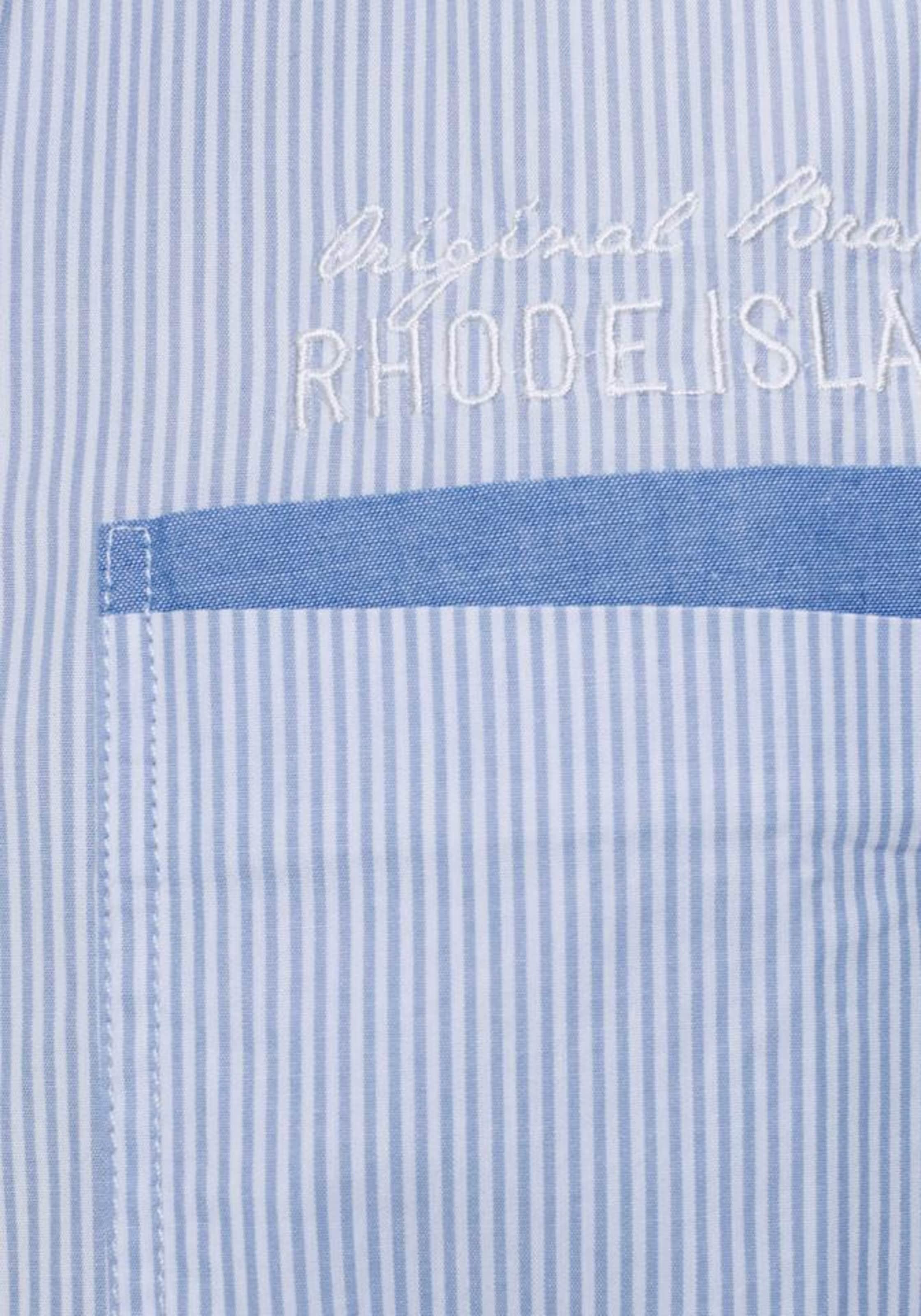 Island Rhode Hemd In RauchblauWeiß Rhode Island N8vnwO0m