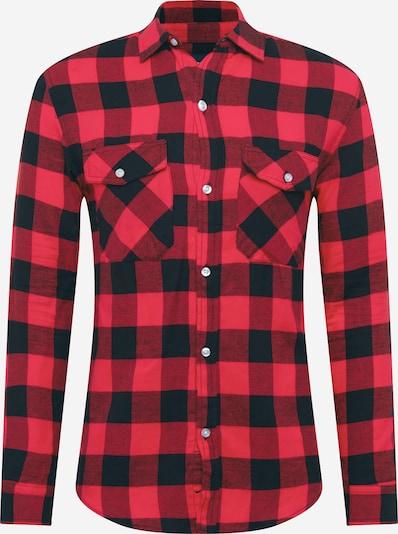 Denim Project Hemd 'SAMI' in rot / schwarz, Produktansicht