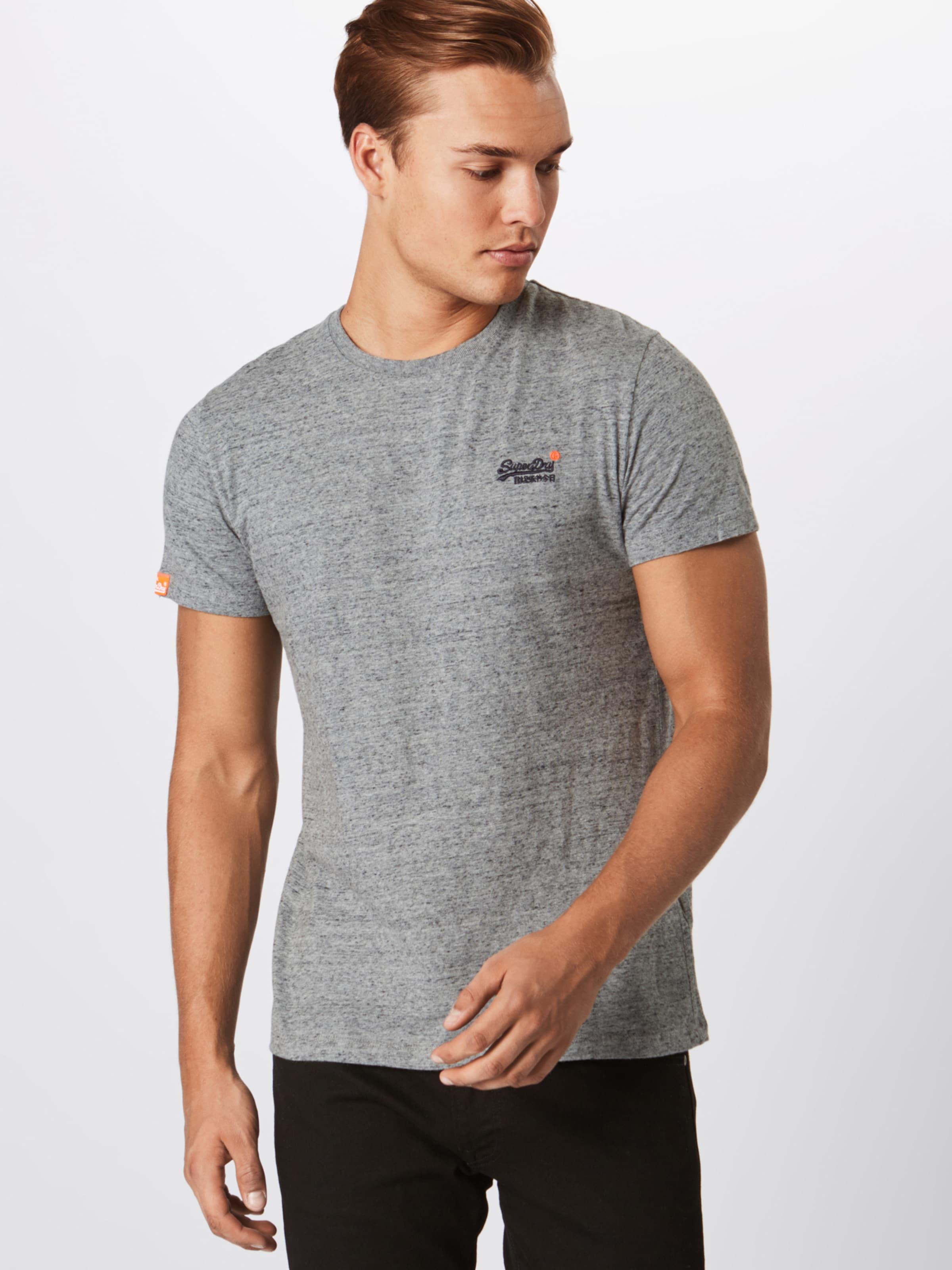 'orange Superdry Label' T In Graumeliert shirt EH9D2YbeWI