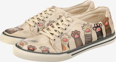 DOGO Sneakers Low 'Yummy' in beige / dunkelbraun, Produktansicht