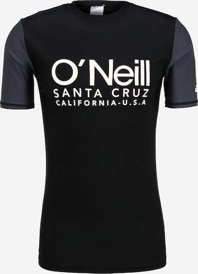 O'NEILL Funkcionalna majica 'PM CALI S/SLV SKINS' | črna / bela barva, Prikaz izdelka