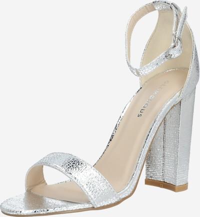 GLAMOROUS Sandály 'FW1898' - stříbrná: Pohled zepředu