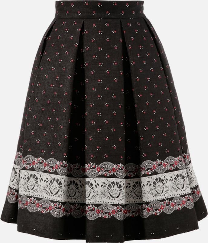 TURI LANDHAUS Trachtenrock in rot   schwarz   weiß  Markenkleidung für Männer und Frauen