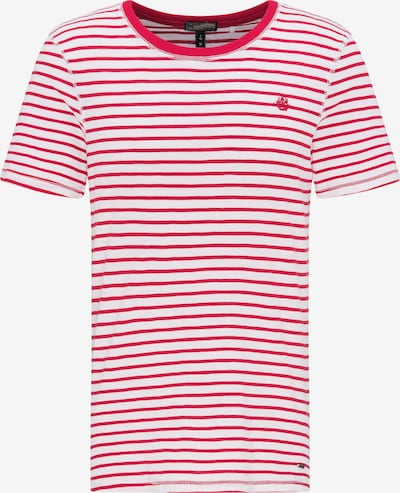DREIMASTER Herren Ringel-Shirt in rot, Produktansicht