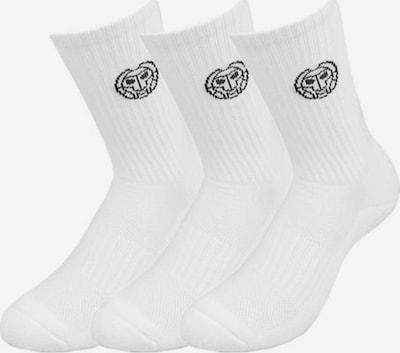 BIDI BADU Sportsocken 3er Pack Tamio Crew Tech Socks  mit Logo-Print SP19 in weiß, Produktansicht