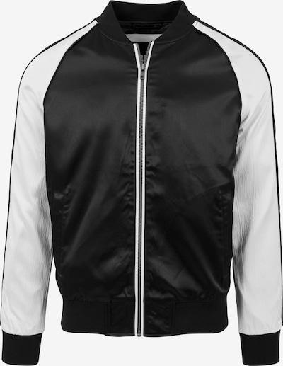 Urban Classics Tussenjas in de kleur Zwart / Offwhite, Productweergave