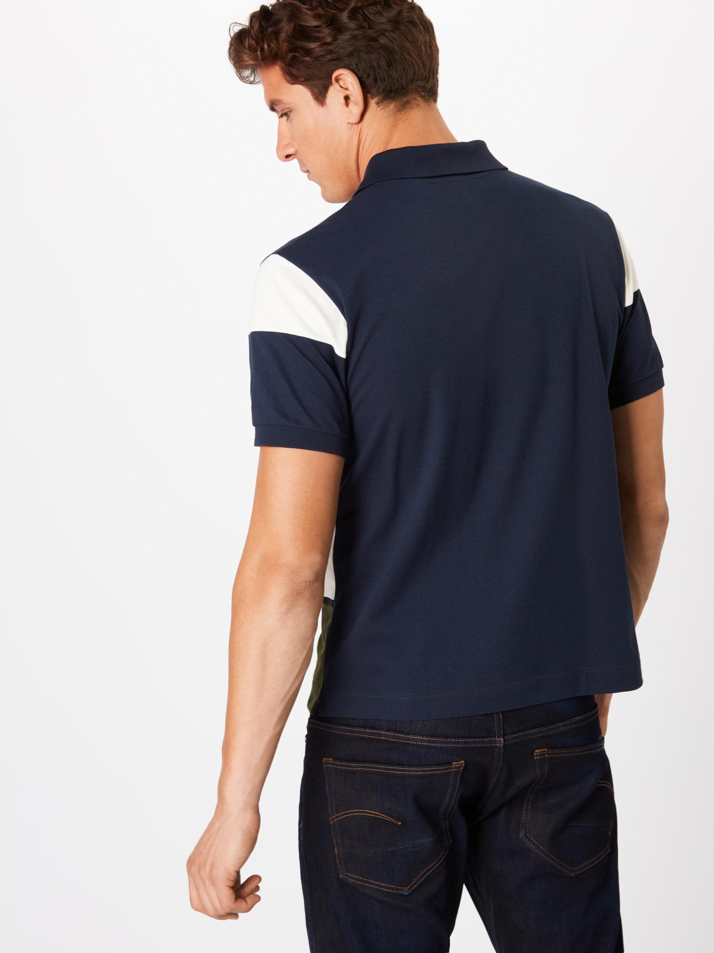Col Ma' Lacoste In Polo cotes Bord BlauGrün Weiß 'chemise kXiuZP