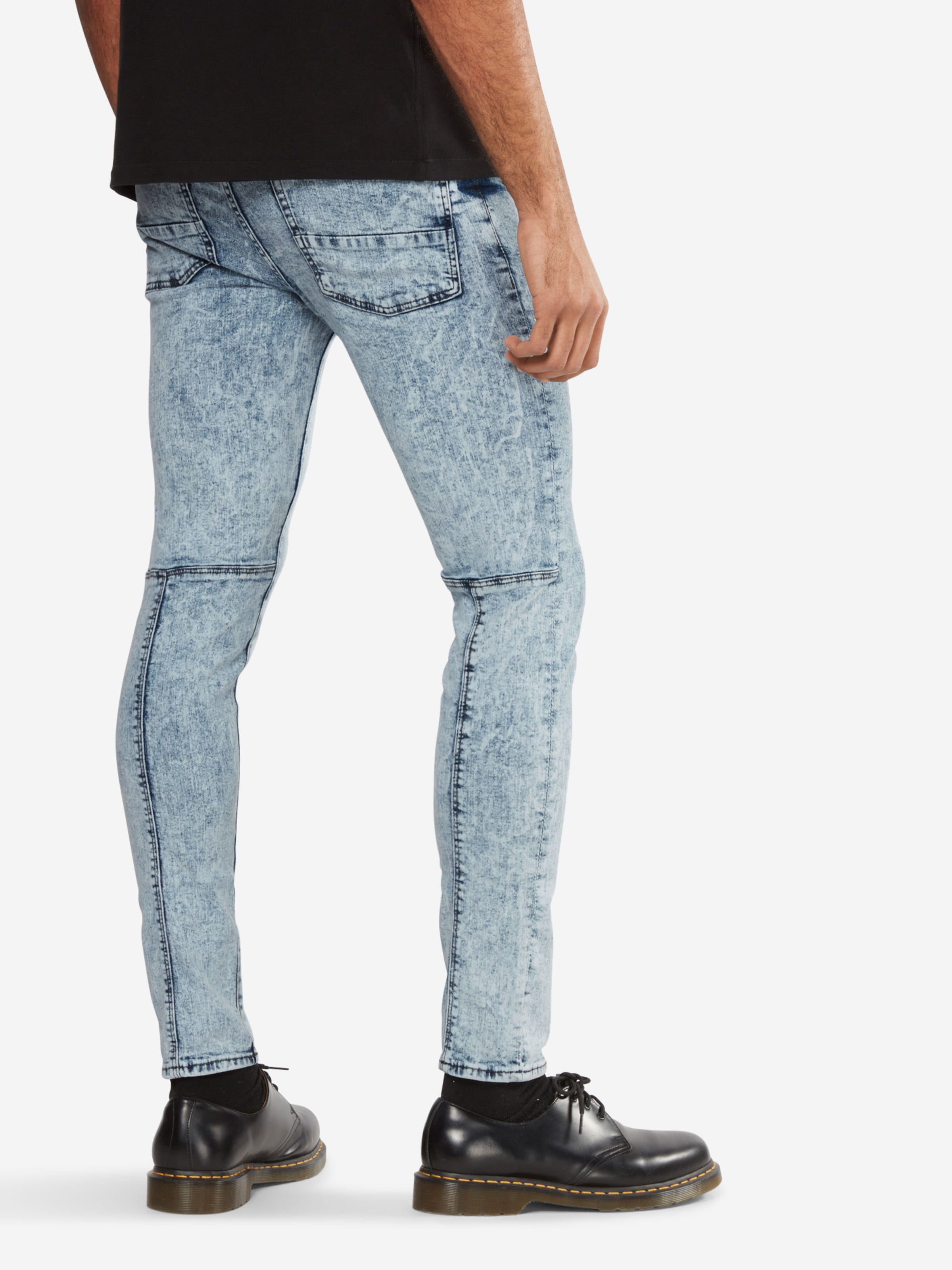 Steckdose Authentisch NEW LOOK Jeans 'BRIGHT BLUE RIP SKINNY' Beste Authentisch Gutes Angebot Vi0JFH