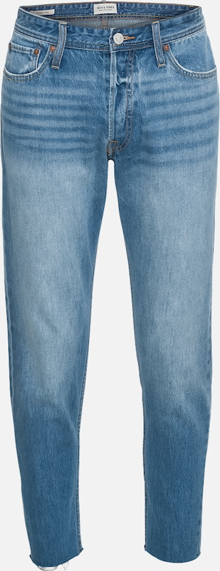 JACK & JONES Jeans 'JJIFRED JJORIGINAL CR 073 CUT OFF LTD' in blue denim, Produktansicht
