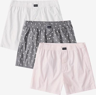 Abercrombie & Fitch Boxerky - sivá / ružová / biela: Pohľad spredu