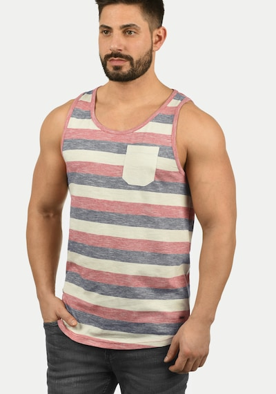 !Solid Tanktop 'Whicco' in beige / blau / rot: Frontalansicht