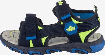 LICO Sandalen in blau / neongrün / schwarz, Produktansicht
