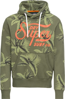 Superdry Sweatshirt 'SUPER SURF CO AOP OVER HOOD'