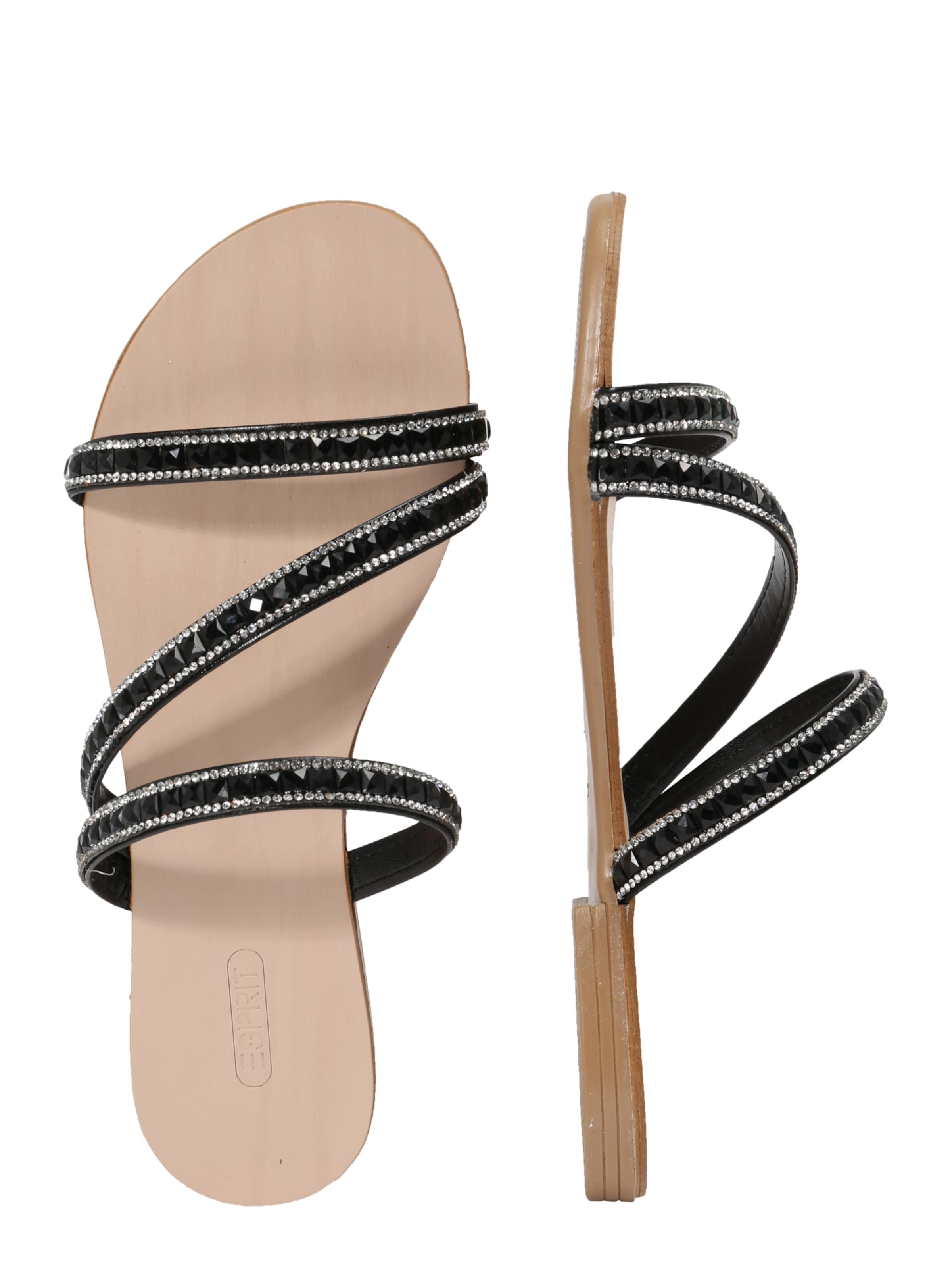 EspritSandales Juwel Noir In 'nil Slide' 45A3RjL
