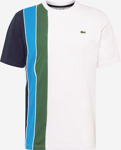 Tricou LACOSTE pe albastru / verde / alb, Vizualizare produs