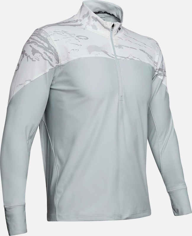 UNDER ARMOUR Funktionsshirt 'Qualifier Camo' in hellgrau / weiß, Produktansicht