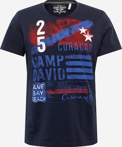Marškinėliai iš CAMP DAVID , spalva - tamsiai mėlyna / raudona / balta, Prekių apžvalga