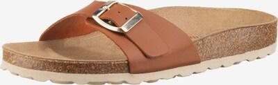 JOLANA & FENENA Pantolette in beige / braun / kastanienbraun, Produktansicht
