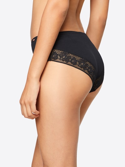Skiny 'Smart   Cotton' Panty in schwarz: Rückansicht