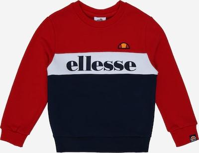 ELLESSE Sweatshirt 'Denomino' in de kleur Donkerblauw / Rood / Wit, Productweergave