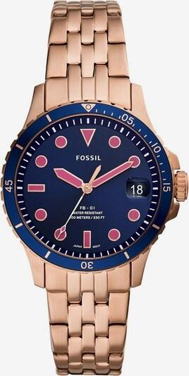 FOSSIL Fossil Quarzuhr »FB - 01, ES4767« in blau / rosegold, Produktansicht