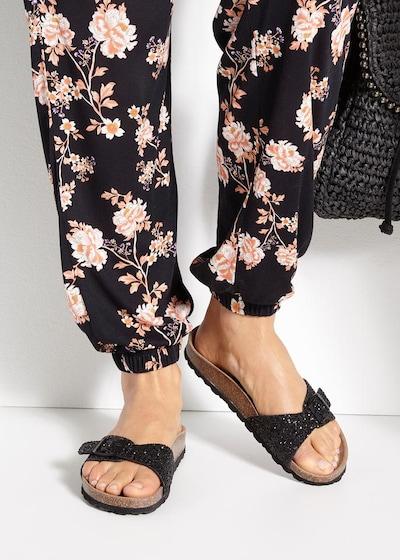 LASCANA Pantolette in schwarz: Frontalansicht