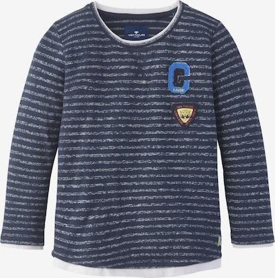 TOM TAILOR Strick & Sweatshirts Gestreiftes Sweatshirt in blau, Produktansicht