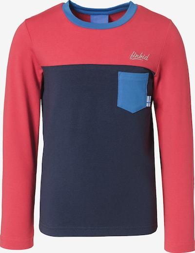 FINKID Langarmshirts PUOMI mit UV-Schutz , Organic Cotton in hellblau / rot, Produktansicht