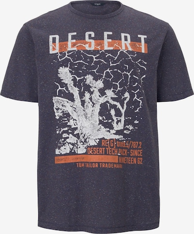 TOM TAILOR Men Plus T-Shirt in nachtblau / mischfarben, Produktansicht