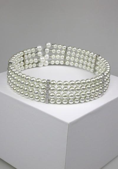 Orquidea Perlenkette 'Tiffany' in weiß, Produktansicht
