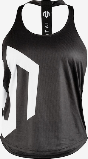 MOROTAI Športový top 'Brand Stringer' - čierna / biela, Produkt