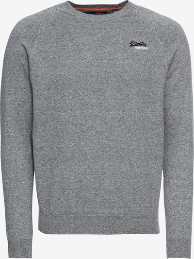 Superdry Pull-over 'ORANGE LABEL VEE' en gris chiné, Vue avec produit