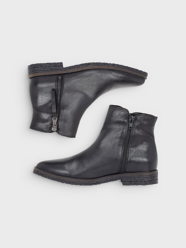 Bianco Doppel-Reißverschluss-Stiefel