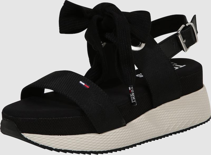 Tommy Schleife Jeans | Riemensandale mit Schleife Tommy Schuhe Gut getragene Schuhe a3979c