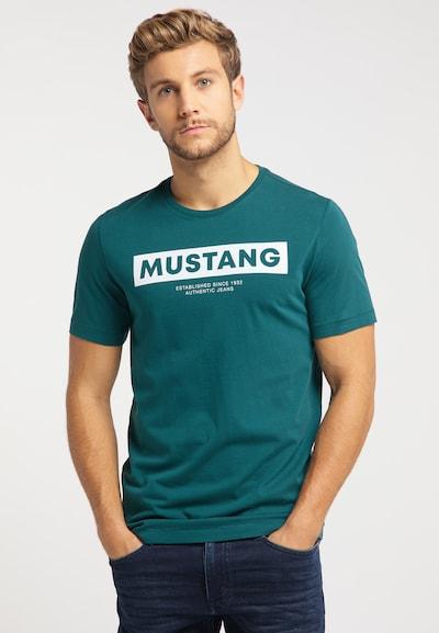 MUSTANG T-Shirt ' Alex C Print ' in petrol: Frontalansicht