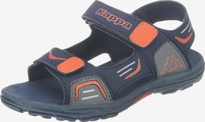KAPPA Sandalen 'Pure' in nachtblau / orange, Produktansicht